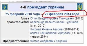 Вікіпедія відредагувала дату президентства Януковича