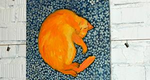 """Виставка картин """"Щастя кота"""" триває у Тернополі"""